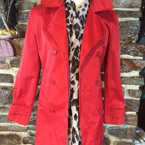 Red Trench Coat Gap